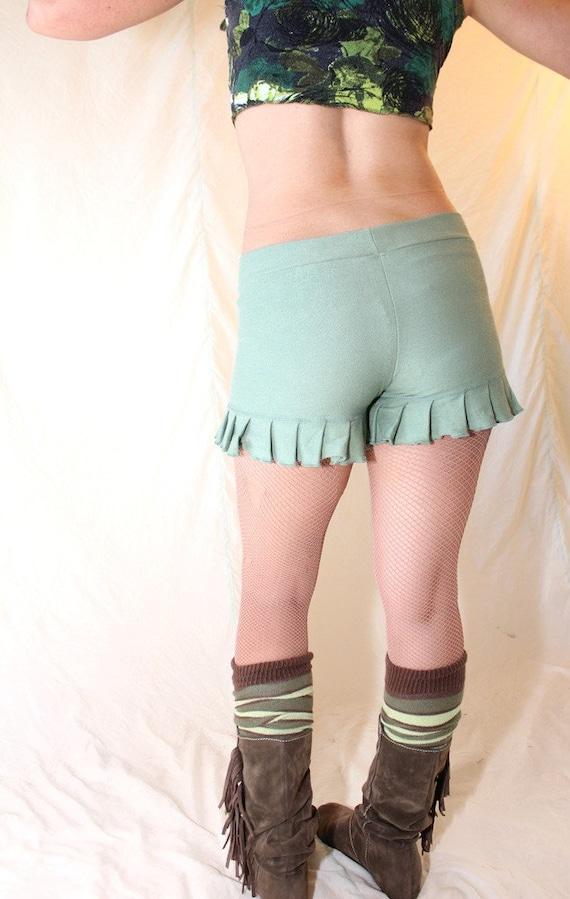 Ruffle Shorts - Sage SMALL
