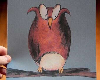 SALE - Owlie - 8 x 10 print
