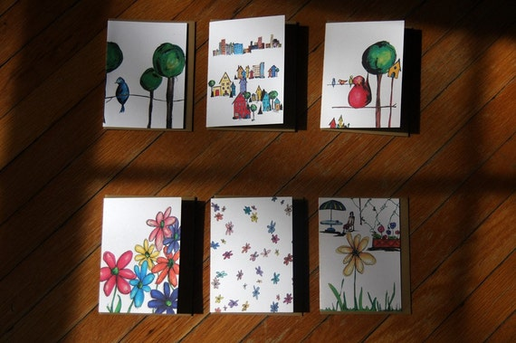 Spring Note Cards - Set of 6