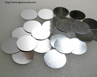 Miniature Supplies - 25 Silver Foil Bakery Boards for Dollhouse miniature Cakes and Bakery Treats