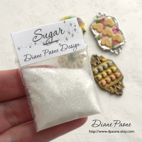 SUGAR for Miniature Sweets and Desserts - Super Fine Fake Sugar - Dollhouse Miniature Food Supplies