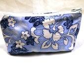 Surf blue fabric make up bag