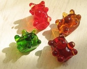 MTO- Gummi bear- tasty looking lampwork beads - free shipping