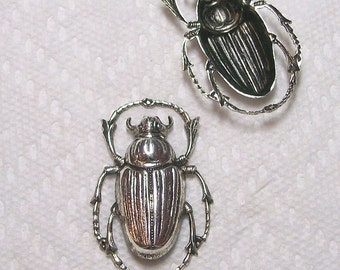 Beetle Focal Piece In Silver