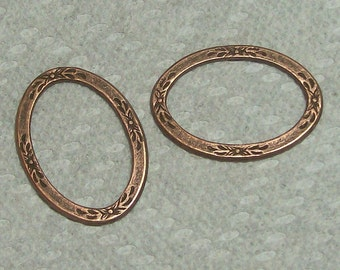 Floral Design Oval Two Pieces In Copper