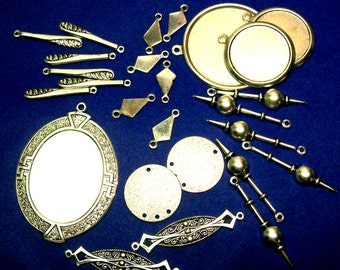Silver Shape Assortment Odds And Ends 26 Pieces