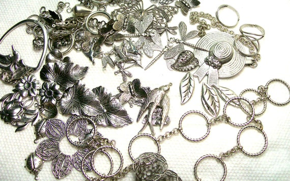 Dragonflies Birds Flowers And More Silver Assortment Odds And Ends