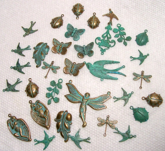 Assortment Of Brass and Verdigris Odds And Ends 1