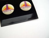 Earrings - Fun - Vintage Stud Post Pierced Earrings - Round - Retro Honor
