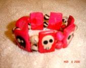 Skully Necklace and Bracelet Combo