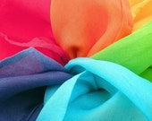 Lil' Silks(tm) Play Silks Set of Six Rainbow Colors