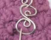 Shawl Pin - Little S design in silver or copper.