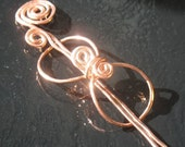 COPPER KNOT Shawl Pin or Hair Pin