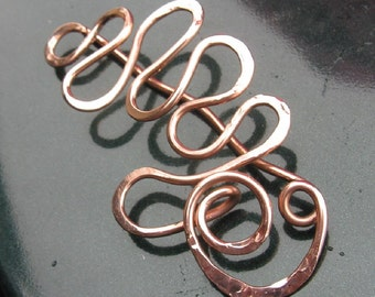 COPPER CURLZ shawl pin