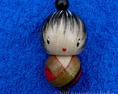 SALE - kokeshi doll Japanese doll ornament charm - saki