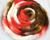 Superwash Merino top, Gingerbread Cookie, 4oz