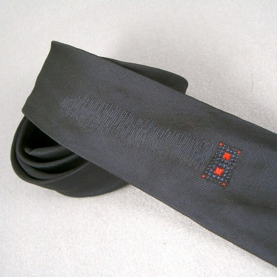 1960s black or is it blue necktie