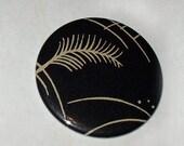 SALE Vintage Wallpaper Pattern Mirror Button