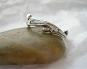 Branch Ring with Flush Set Stones