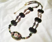 Cloisonne Fleurs Necklace by Diana