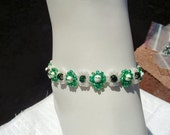 SALE-Green Daisy Chain Anklet by Diana