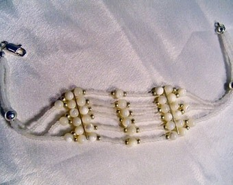 Pearly Lattice Bracelet by Diana