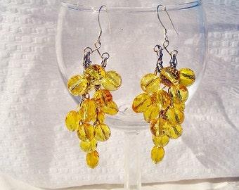 Golden Cascade Earrings by Diana