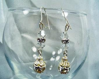 SALE-Elegant Crystals Earrings by Diana