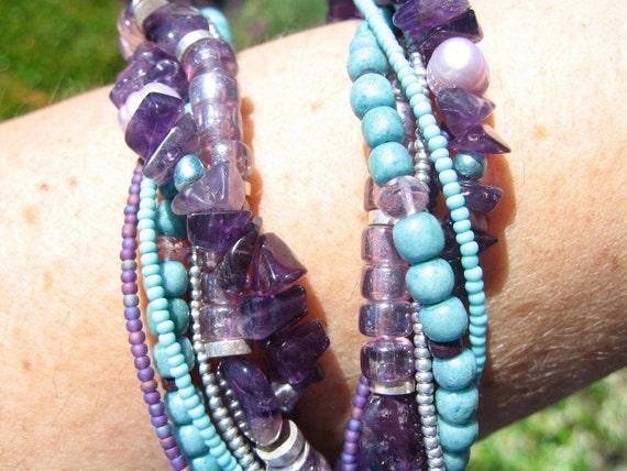 Violet Enchantress Multi-Strand Necklace by Diana