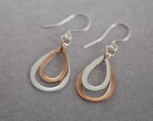 Klyph  Tarnish Resistant Pure Silver and Pink Gold Vermeil Lotus Earrings
