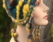 Nothing To Hide- freeform crochet hat OOAK