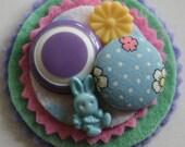 ON HOLD FOR GEMMA Spring Bunny Brooch-Pin