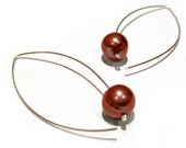 Marquise Solitaire Earrings Bronze FWP reserved for sarah