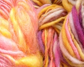 3 skeins of handspun yarns thick and thin bulky