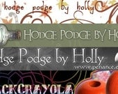 Custom banner and avatar set for your Etsy shop