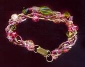 Pink and Green Medley Bracelet