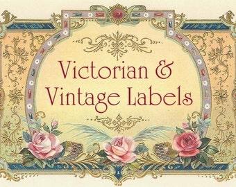 600 BLANK LABELS, DIGITAL vintage style Victorian tags, Labels Tags Frames, Vintage Images Victorian labels, floral women printable Download
