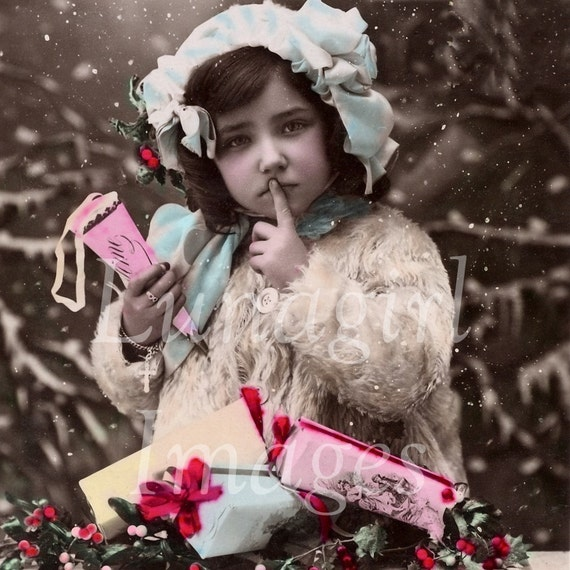 Vintage Images CD Holiday Photos Victorian CHRISTMAS New Years cards winter snow pictures children women couples 250 printable jpg images