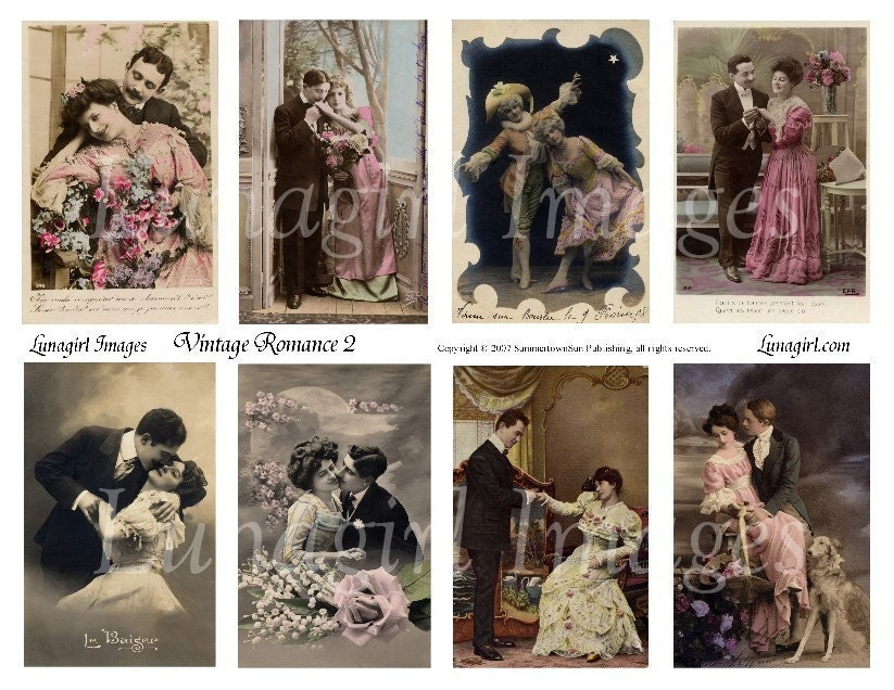 Vintage romance 2 collage sheet download couples vintage zoom sciox Gallery