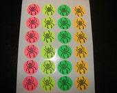 Spider Stickers -- hand carved design