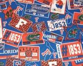 "Florida Gatros Cotton Fabric 22"" x 29"""