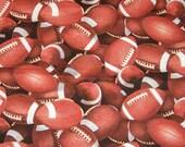 "Footballs Cotton Fabric13"" x 44"""