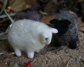 Needlefelted sheep from natural wool -Custom order  Lexy