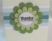 Thanks for Your Kindness Floral Card
