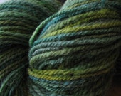 New Corriedale Alpaca Lincoln blend sock yarn 400 yds pretty greens