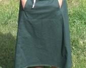 Skirt- Hunter green scrub skirt