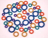 Rubber Stitch Markers - Set of 50 Mixed