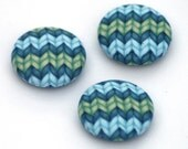 Knitting Magnets - Blue and Green - Set of 3
