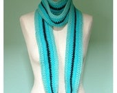 INDISCRETION Black and Blue and Striped All Over Scarf
