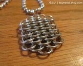 Chainmaille Dragonscale Pendant (Silver)